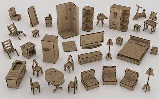 Oliveira Artefatos em MDF: Miniatura de móveis