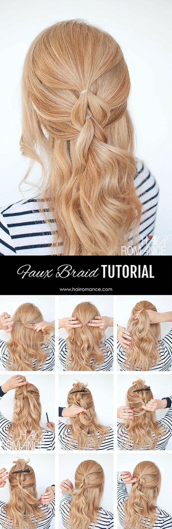Best Hairstyles for Women: The no-braid braid – 5 pull-through braid tutorial...