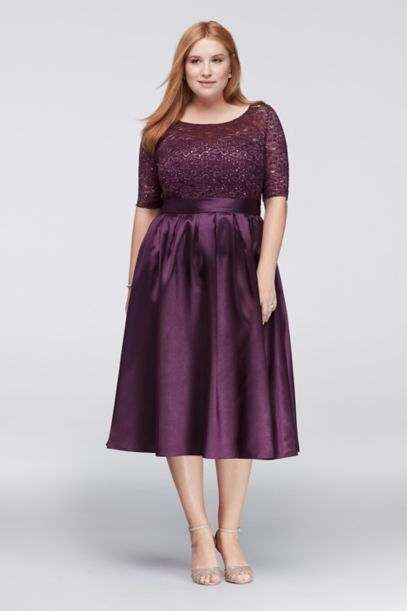 Коктейльные платья для полных девушек американского бренда David's Bridal, весна-лето 2017
