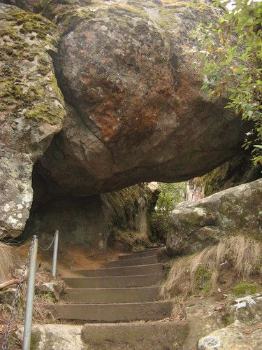 Hanging Rock, Macedon Ranges, Victoria. pinner says: There is something eerie about this place. We felt it when we visited here in 2007. Can't explain it but even though we enjoyed our exploring, we were glad to get in the car and head home.........