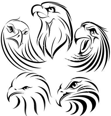 Eagle set vector on VectorStock®
