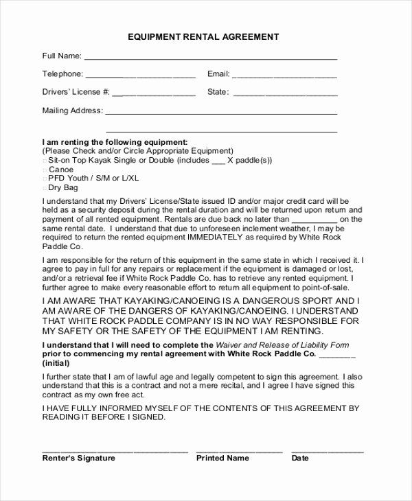 Simple Equipment Rental Agreement Template Free Best Of Simple Rental Agreement Form 12 Free Documents I Rental Agreement Templates Contract Template Agreement