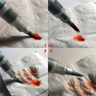 How to use a water brush
