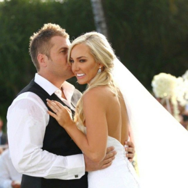 The very Glamorous bride Ashy Bines and Hubby.  Hair Styling by Kristy Gibson from Miss Bliss. Went all the way to Bali for this one!  www.missblissonline.com.au  #bali #samararesort #stunning