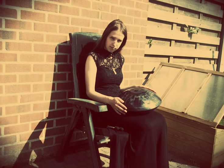 myself with my hang/handpan musical instrument  I also like the effects on this picture