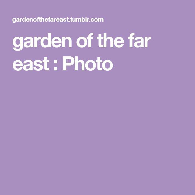 garden of the far east : Photo