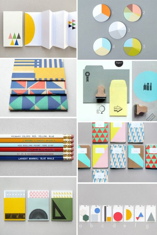 Almost retro style patterns and colors add to the playfulness
