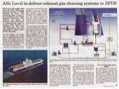 Alfa Laval deliver PureSOx Exhaust Gas cleaning system to DFDS. Read article in Skipsrevyen.