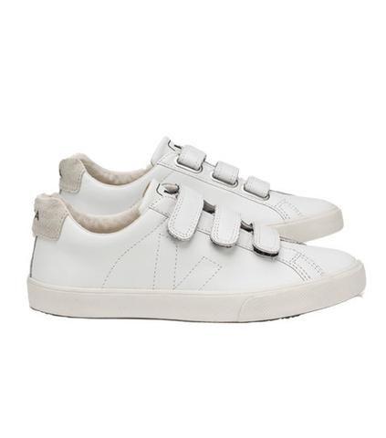 VEJA Esplar Leather 3 Lock White Women|VEJA Esplar Leather 3 Lock Whit | Supergoods Fair Fashion