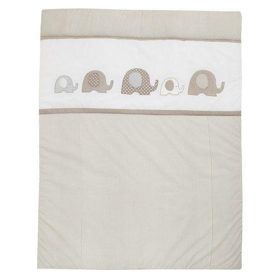 Alvi - Krabbeldecke 100 x 135 cm - Elefant Beige - Babyartikel.de