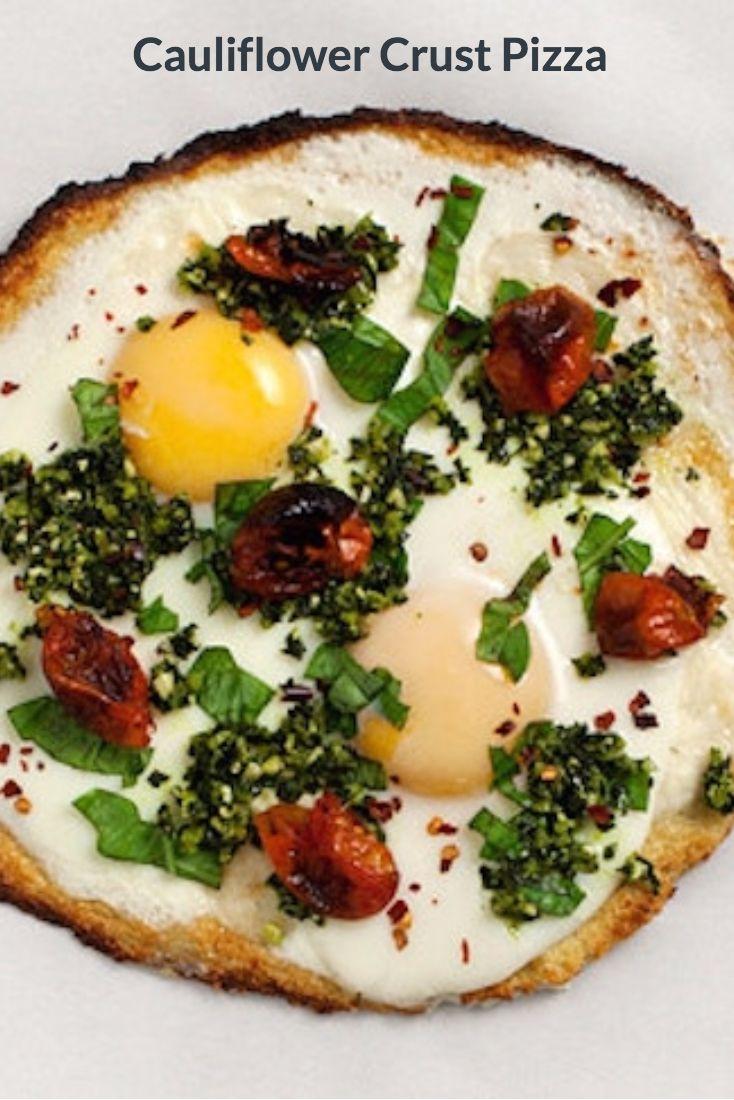 Cauliflower Crust Pizza #healthyrecipes #cauliflower #paleo