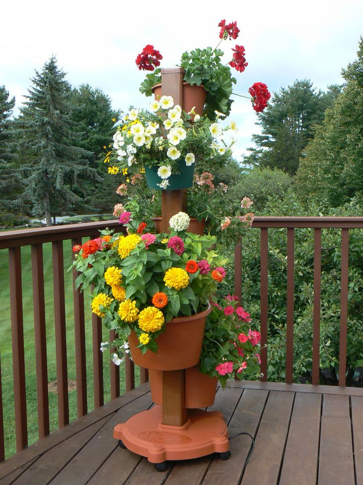 Best 20 Flower pot tower ideas on Pinterest Stacked flower pots