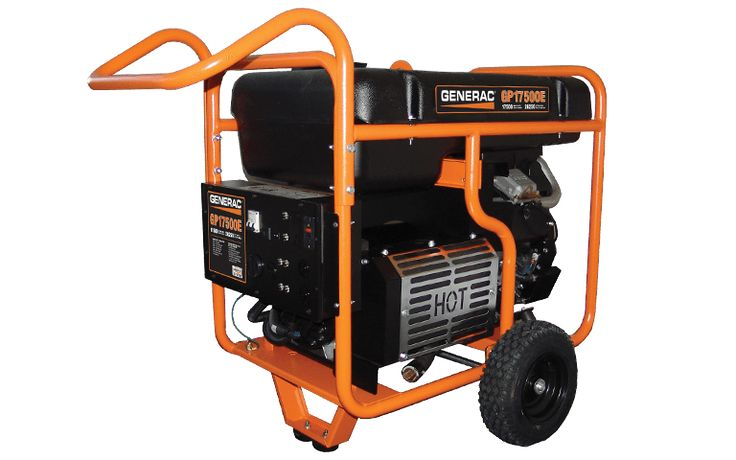 Generac gp17500e portable generator i was impressed