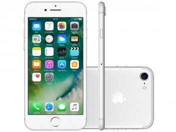 """iPhone 7 Apple 256GB Prateado 4G 4,7"""" Retina - Câm. 12MP + Selfie 7MP iOS 10 Proc. Chip A10"""