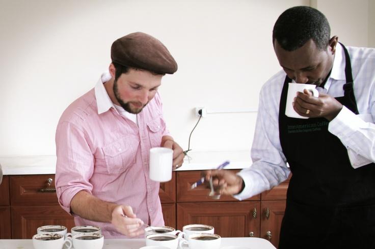 Matt cupping in Ethiopia
