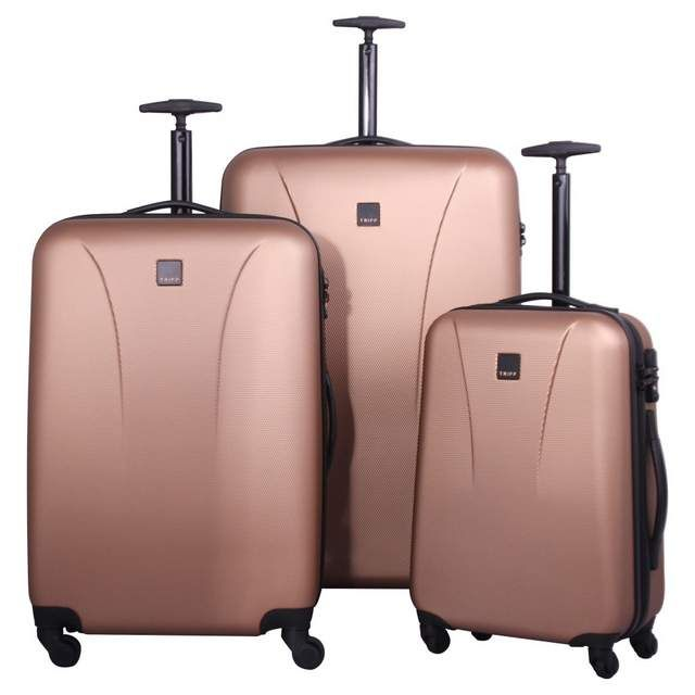 These are just beautiful. I had a gorgeous DVF set but they're starting to get wrecked so swapping for the Tripp Lite Large 4-Wheel Suitcase in Rose Gold.