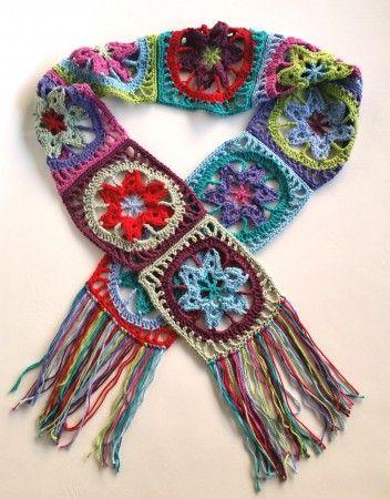 Stash Busting Crochet Scarf by Shelley Husband ༺✿ƬⱤღ✿༻