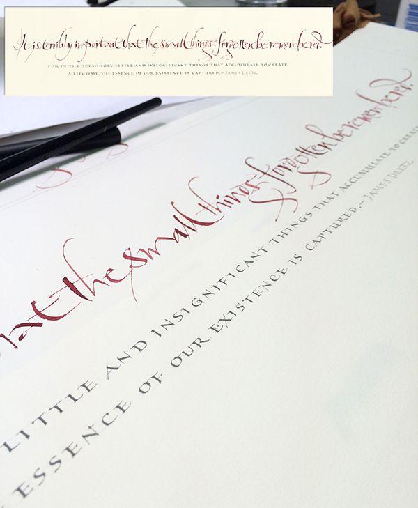 I Love Capitals 2 On Behance John Stevens Schriftkunst Kalligraphie Kalligrafie