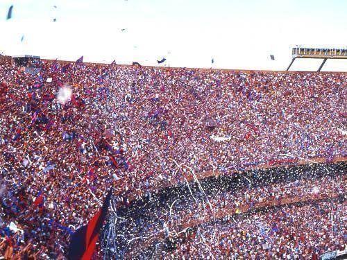 La Gloriosa hinchada de San Lorenzo en la cancha de River Plate.