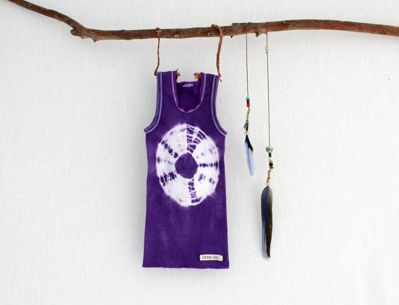 GYPSY . tie dye baby singlet top . sizes 000 to 2 . purple .