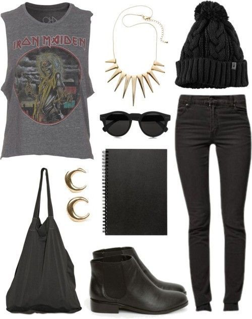 Rock Style Fashion: 27 Outfit ideas and Stylish Combinations minus the hat Find more fashion ideas on www.popmiss.com