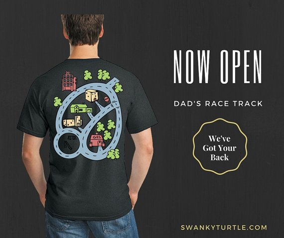 Dad's Race Track Now Open  Matching Shirts for by swankyturtle