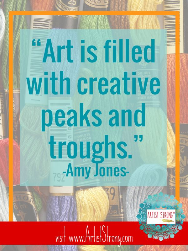 Amy Jones talks about embroidery, being self-taught, finding her voice AND learning how to say no today on Artist Strong.