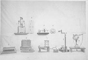 Historical apparatus of King's College of London, Wheatstone apparatus. From an album of photographs from the Paris Electricity Exhibition, 1881. IET Archives ref. SC MSS 063. #histSTEM