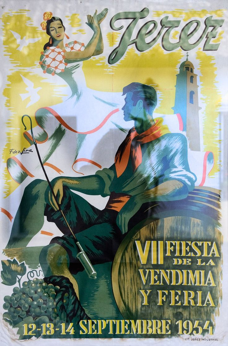 Tag til sherrysmagning i Jerez  - sherryplakat