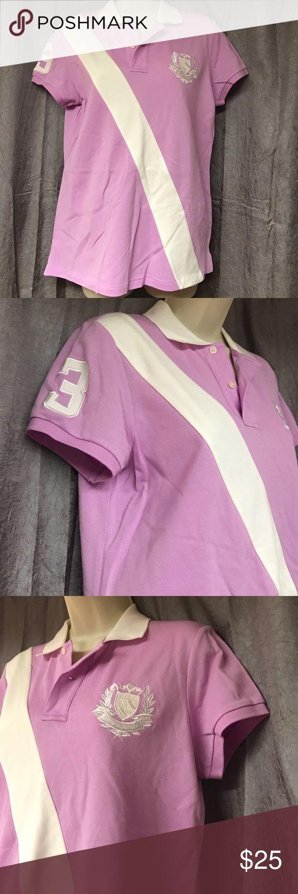 NWT RALPH Lauren Golf Polo shirt lavender Sz L🌸 New with tags Lavender and white Ralph Lauren Golf polo style shirt fits 12/14 $95 new Ralph Lauren Tops Tees - Short Sleeve