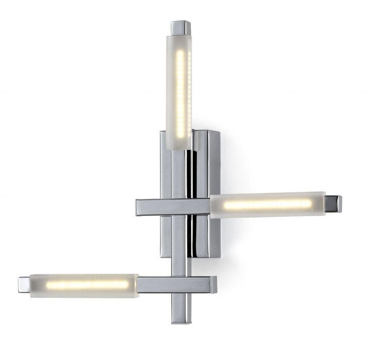 Applique Naire LED chrome