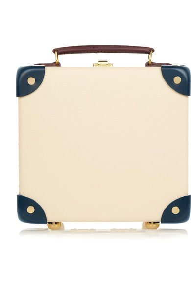 "Globe-Trotter - The Goring 9"" Mini Leather-trimmed Fiberboard Travel Trolley - Cream"
