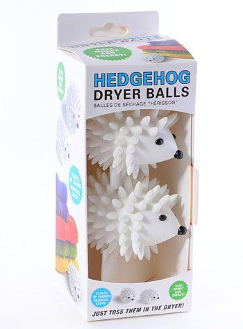 Fluffing Hedgehog Dryer Balls by Kikkerland Design   Nest   PLASTICLAND
