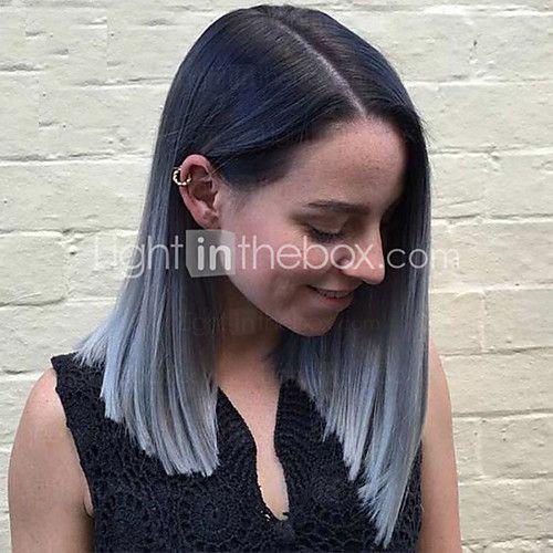 multi-couleur perruque naturelle courte droite populaire synthétique pour femme de 2017 ? €17.52