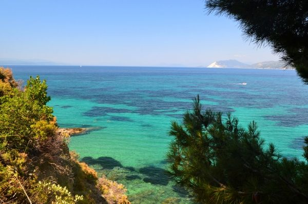 Blue green water