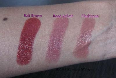 Revlon Super Lustrous Lipstick (Creme) - Rose Velvet, Fleshtone and Bali Brown