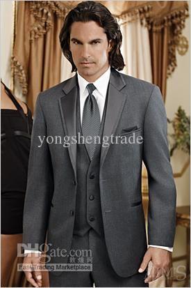 Wholesale Suit Wedding - Buy New Arrival Groom Tuxedos Best Man Suit Wedding Groomsman Custom Wedding Suit Gray Wedding Suit Y968, $118.0   DHgate