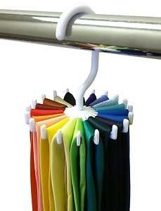 Rotating Tie Rack Adjustable Tie Hanger Holds 20 Neck Ties Tie Organizer | eBay