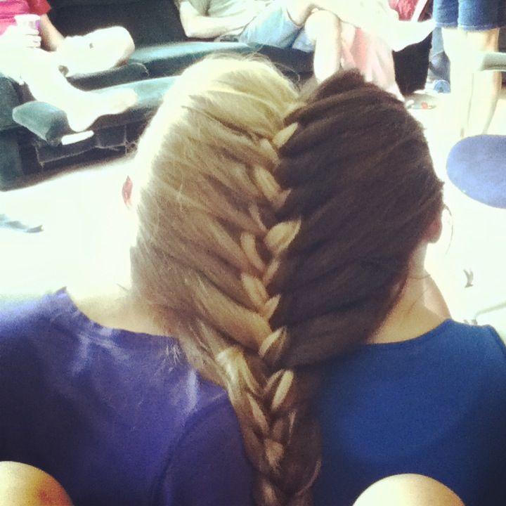 A two person french braid braids pinterest french braid ccuart Choice Image