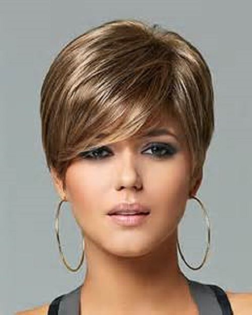 Womens Light Weight Wig Comfortable Boy Cut Layered Hair