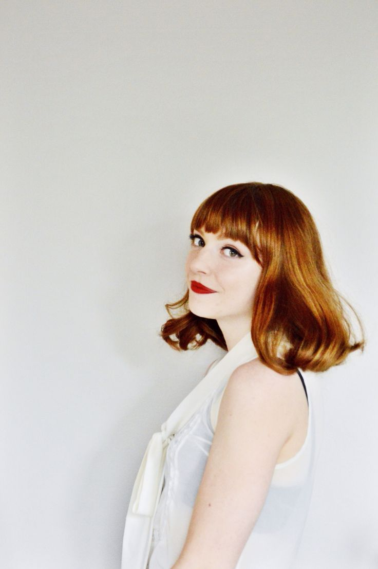 Larkspur Vintage, short hair style, fashion, photography, ginger, red head, hair, make up, beauty, red lips
