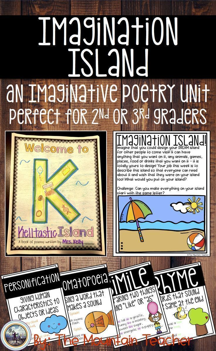 hight resolution of Poetry writing unit for second or third graders. Learn about similes