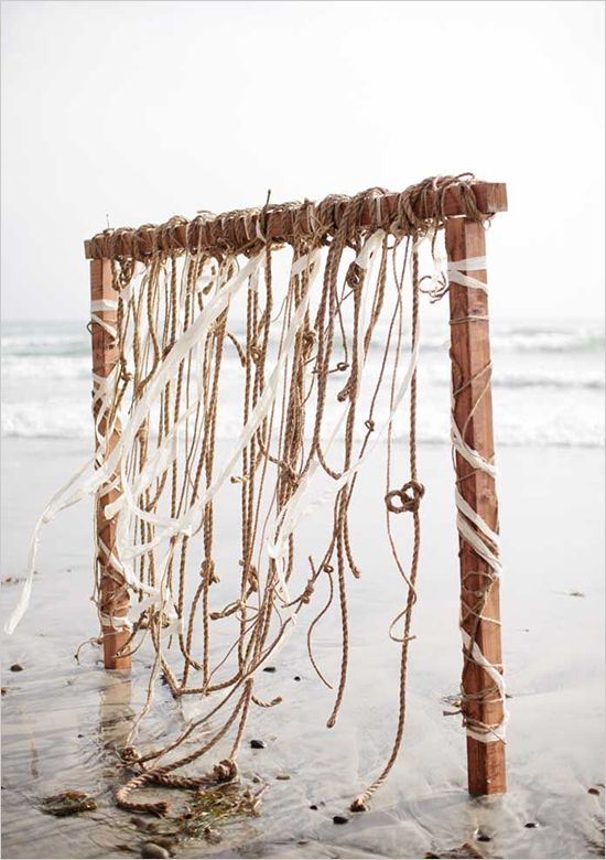 What a lovely idea for a beach backdrop