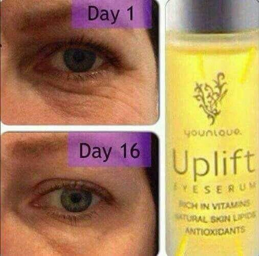 Younique Uplift eye serum before and after! You can't ignore these results