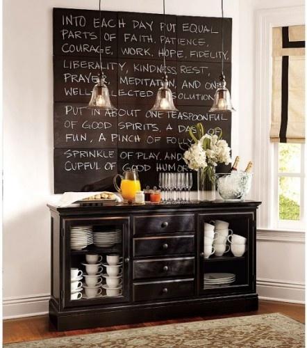 Repurpose a dresser into a buffet