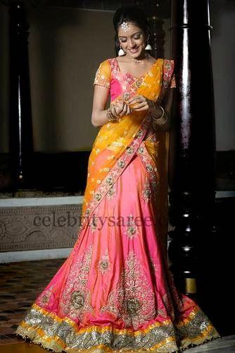 Vithika Embroidered Half Saree | Saree Blouse Patterns