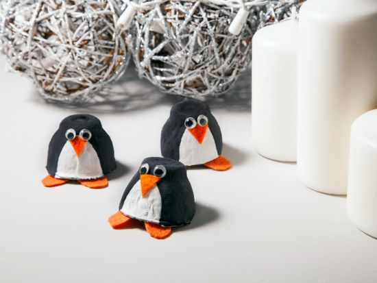 Cool project from http://www.kiwicrate.com/projects/Egg-Carton-Penguin/898: Egg Carton Penguin