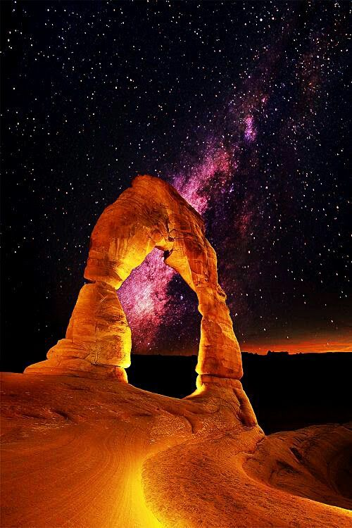 Milky Way Over Delicate Arch The Arches National Park UTAH USA