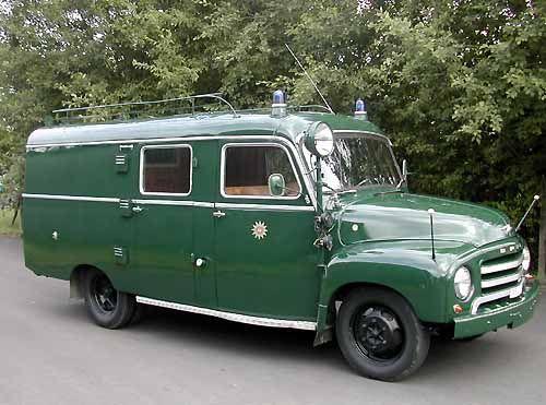 Opel Blitz in Polizeiausführung - Baujahr 1959 Maintenance/restoration of old/vintage vehicles