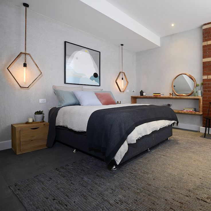 Second place goes to Kyal and Kara for their guest bedroom #theblock